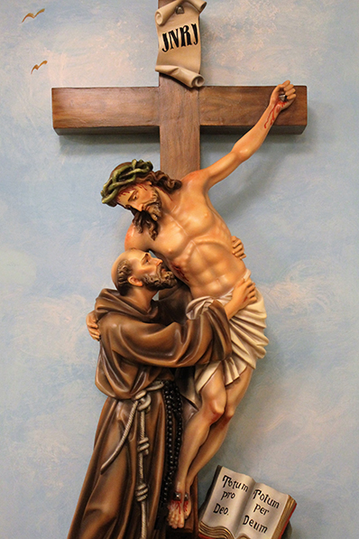 Our Statue & the San Damiano Cross | St. Francis of Assisi Church